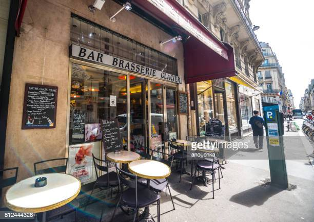 Typical Brasserie in Paris city center, France