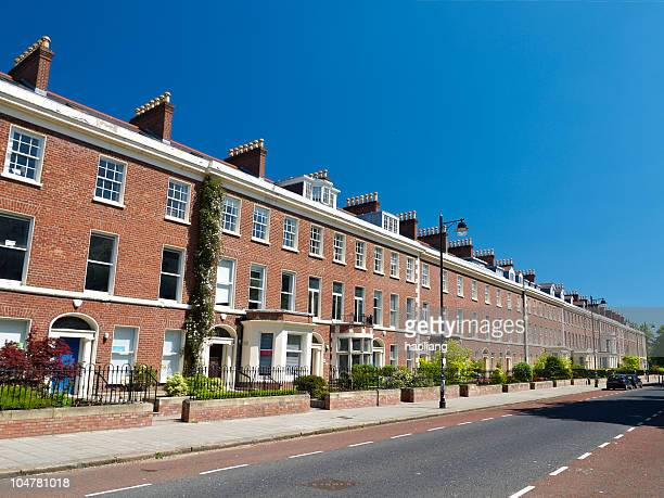 typical british houses in belfast,northern ireland - belfast stock pictures, royalty-free photos & images