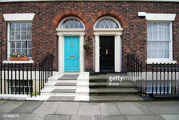 typical british houses - facade stock pictures, royalty-free photos & images