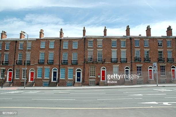 typical british houses - terraced_house stock pictures, royalty-free photos & images