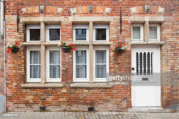 Typical Bruges Building Facade