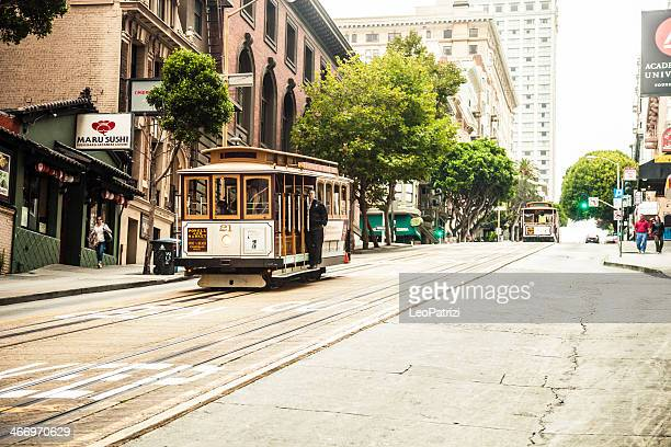 Typical cable car in San Francisco