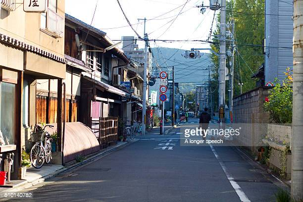 Typical cityscape of Kyoto's street in the morning