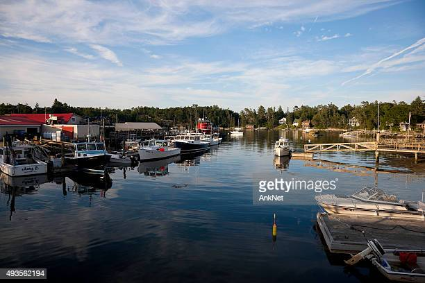 typical coastal town in new england - southport maine stock pictures, royalty-free photos & images