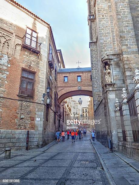 Typical cobbled street of the historical center of Toledo