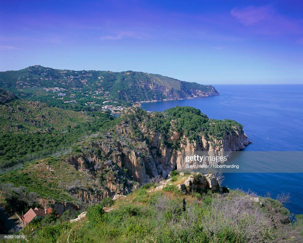 Typical Costa Brava scenery on the Cap de Creus, Costa Brava, Catalunya Catalonia Cataluna, Spain, Europe : Foto de stock