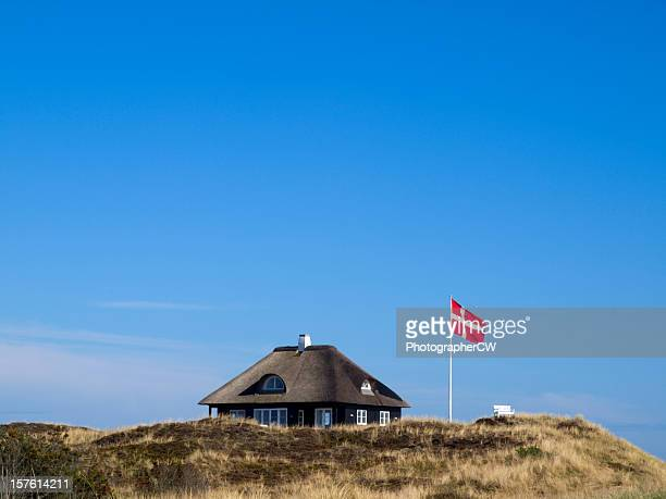 typical danish cottage - denmark stock pictures, royalty-free photos & images