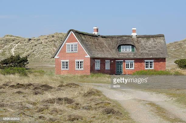 Typical danish privat house in the dunes