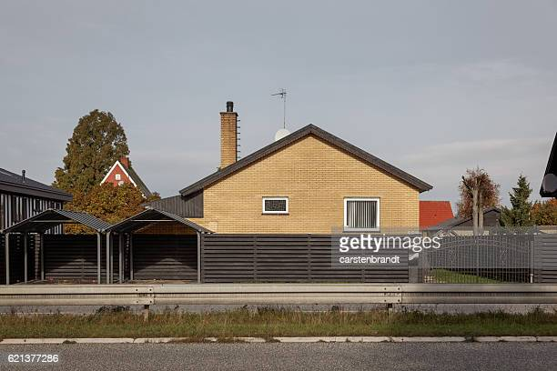 Typical Danish suburb south  of Copenhagen