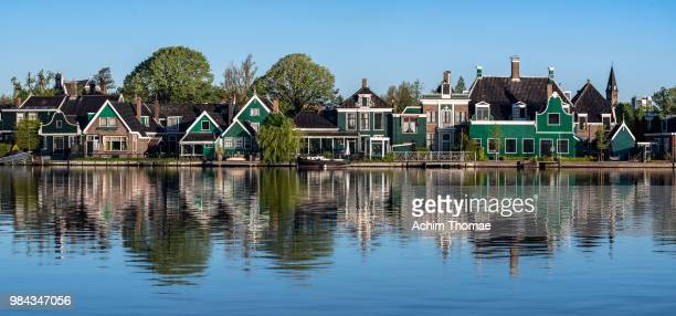 Typical Dutch houses in Rooswijk, Netherlands, Europe