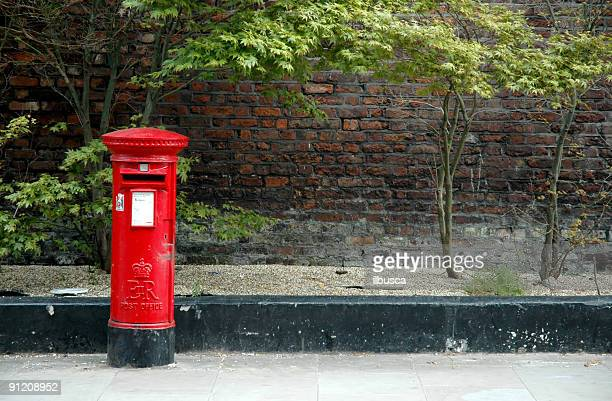 Typical English red postbox