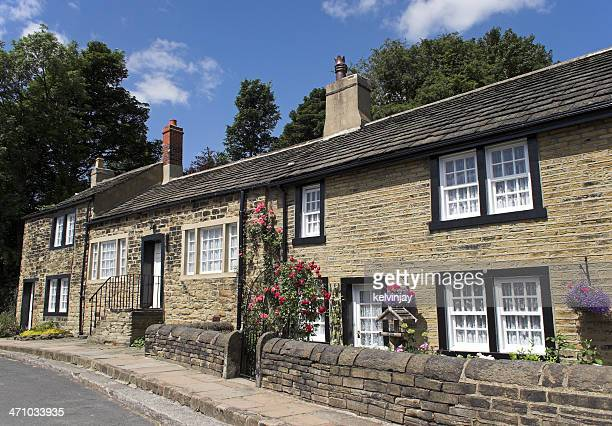 Typical English village cottages