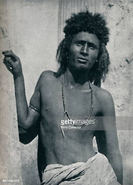 A typical Ethopian from the Nile Valley near its junction with the Atbara 1912 From The Living Races of Mankind Vol II [Hutchinson Co London 1912]...