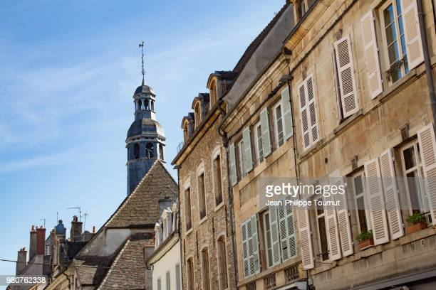 Typical Facades and Roofs in Beaune, Burgundy, Bourgogne, France