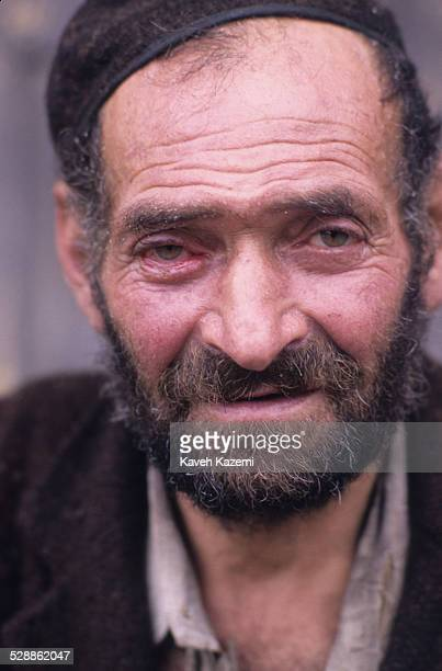 Typical face of a peasant in Masouleh, Iran, July 1, 1989. Built into a mountain side, the village is terraced with the roofs of the structures below...
