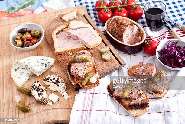 Typical French charcuterie
