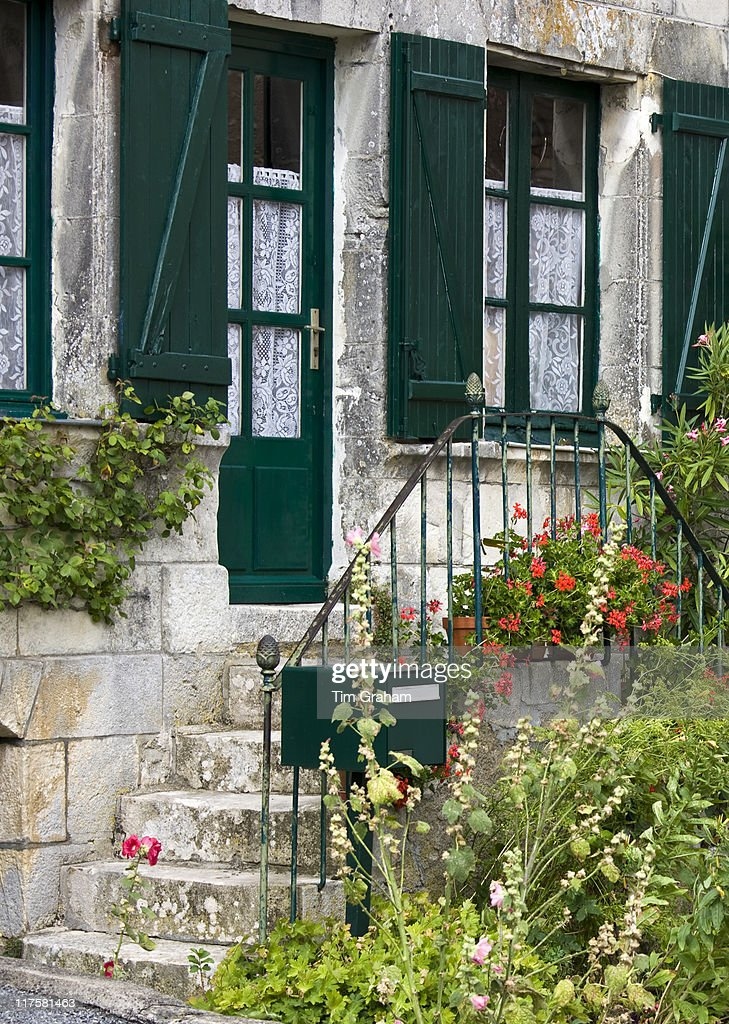 Typical French House In Angles Sur LAnglin The Dordogne France