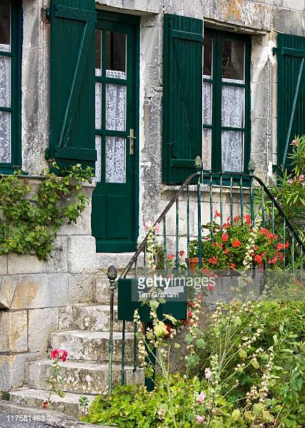 Typical French house in Angles Sur L'Anglin in the Dordogne France