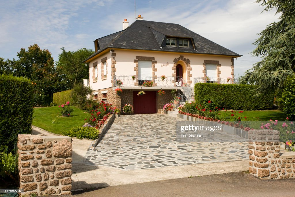 Typical French Modern House In Period Style At Ernee Normandy France