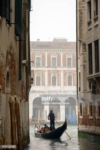 Typical gondola in Venice, Italy.