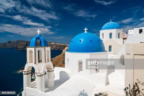 typical greek architecture on santorini island