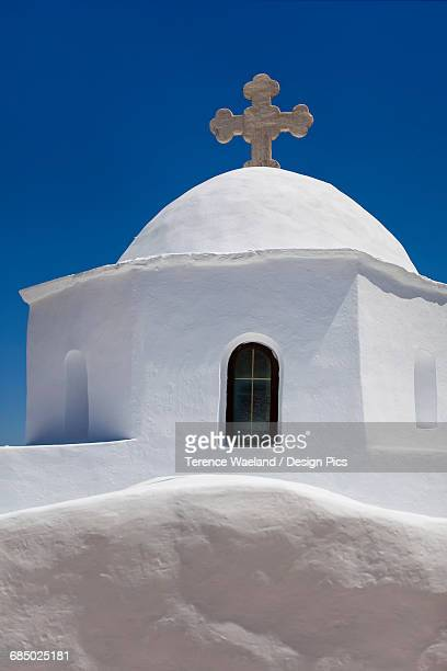 typical greek orthodox church - terence waeland stock pictures, royalty-free photos & images