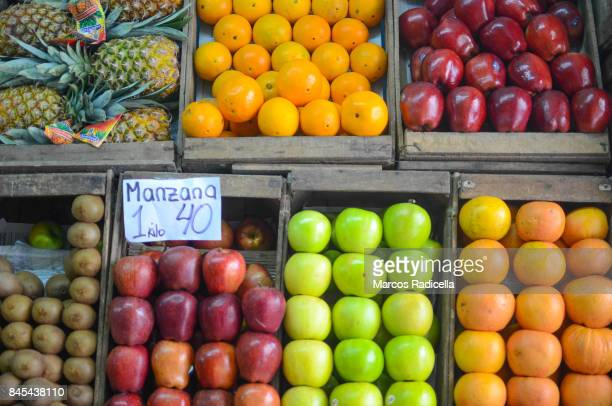 typical greengrocery in buenos aires, argentina - radicella stock pictures, royalty-free photos & images