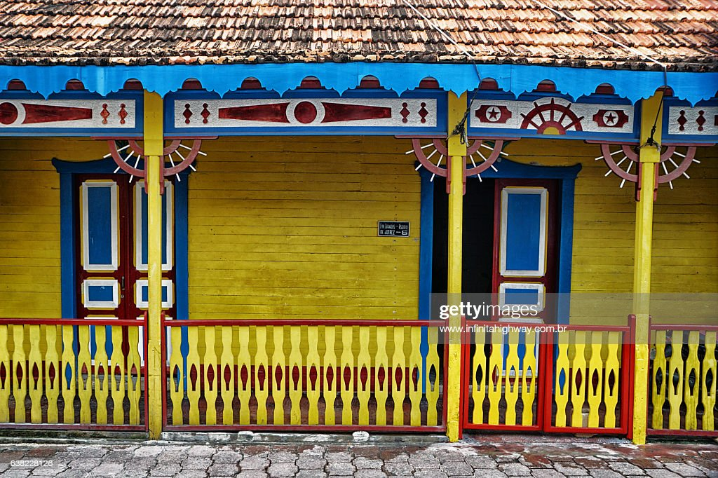 Typical house in Isla Mujeres : Stock Photo