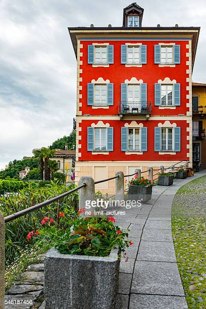 typical house in Italy at Lake Maggiore