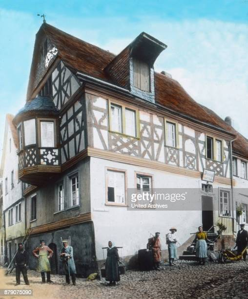 A typical house in the village of Enkirch on the Moselle Recording before 1905