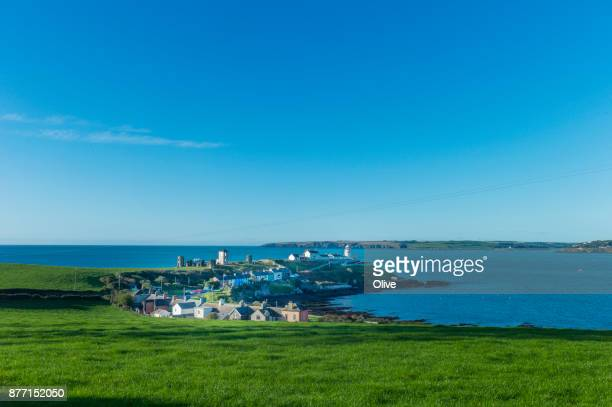 typical houses of roches point bay, south of cork , in the winter morning - cork city stock pictures, royalty-free photos & images