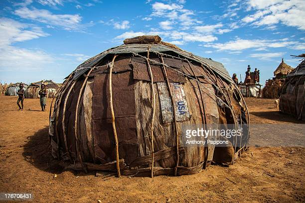 CONTENT] typical hut of the tribe of Dassanech living near Omorate in the south of Ethiopia on the border with Kenya Also known as the Galeb or Geleb...