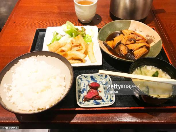 Typical lunch meal in Tokyo, personal perspective view