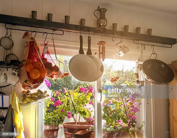 typical mediterranean  kitchen view