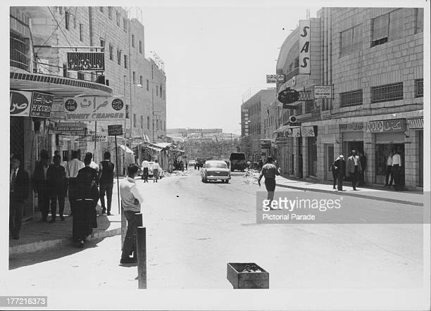 A typical modern street in Jerusalem Israel circa 19551975