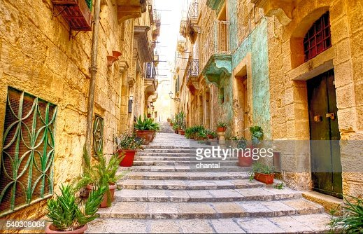Typical narrow street with stairs