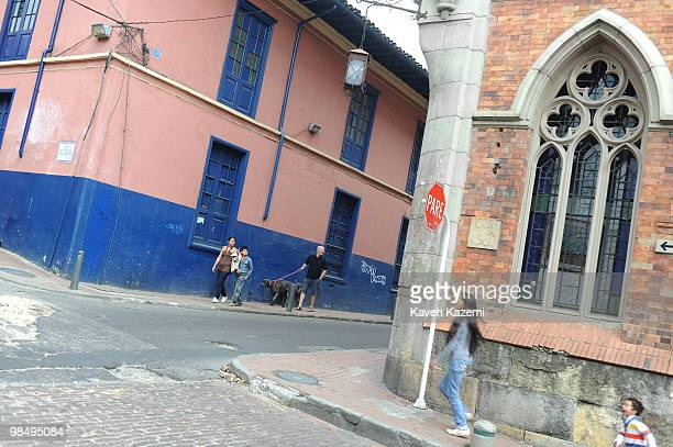 A typical neighborhood in Candeleria old part of the city Bogota formerly called Santa Fe de Bogota is the capital city of Colombia as well as the...