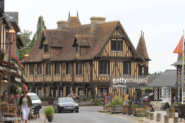 A typical Normandy style house seen in BeuvronenAuge On Friday August 2 in Caen Normandy France