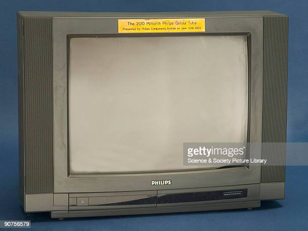 Typical of TV sets throughout the 1980s and 1990s this landmark set presented to the Museum in 1993 is a Philips' colour television set containing...