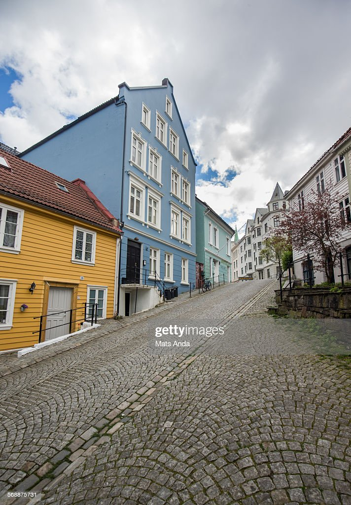 Typical old wooden housing from Bergen, Norway. : Stock Photo