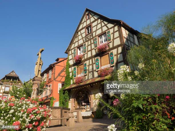 Typical picturesque building in Kaysersberg