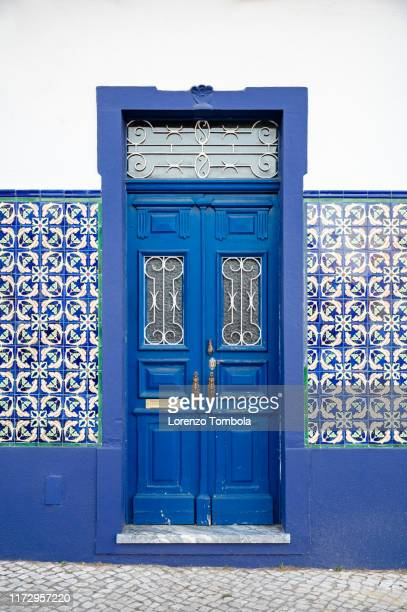 typical portuguese house facade - portugal stock pictures, royalty-free photos & images