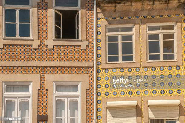typical portuguese houses - asymmetry stock pictures, royalty-free photos & images