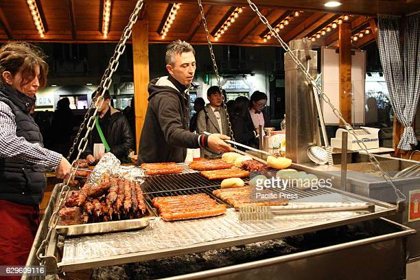 A typical products display of the German tradition A typical local market which displays the typical products of Italian and foreign regions with...
