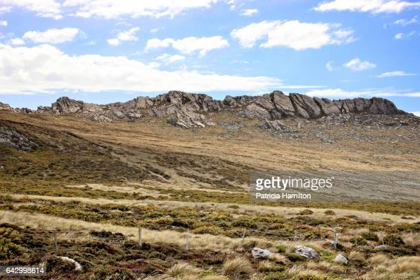 Typical rocky outcrops in the Falkland Islands