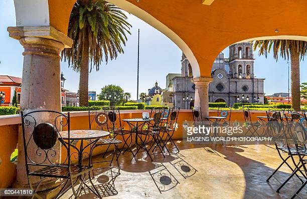typical small mexican town - puebla mexico stock pictures, royalty-free photos & images