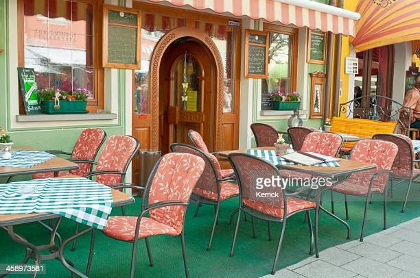 Typische kleine street restaurant in Deutschland