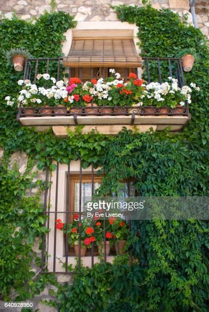 Typical Spanish house, Pedraza, Segovia, Castile and Leon, Spain, Europe.