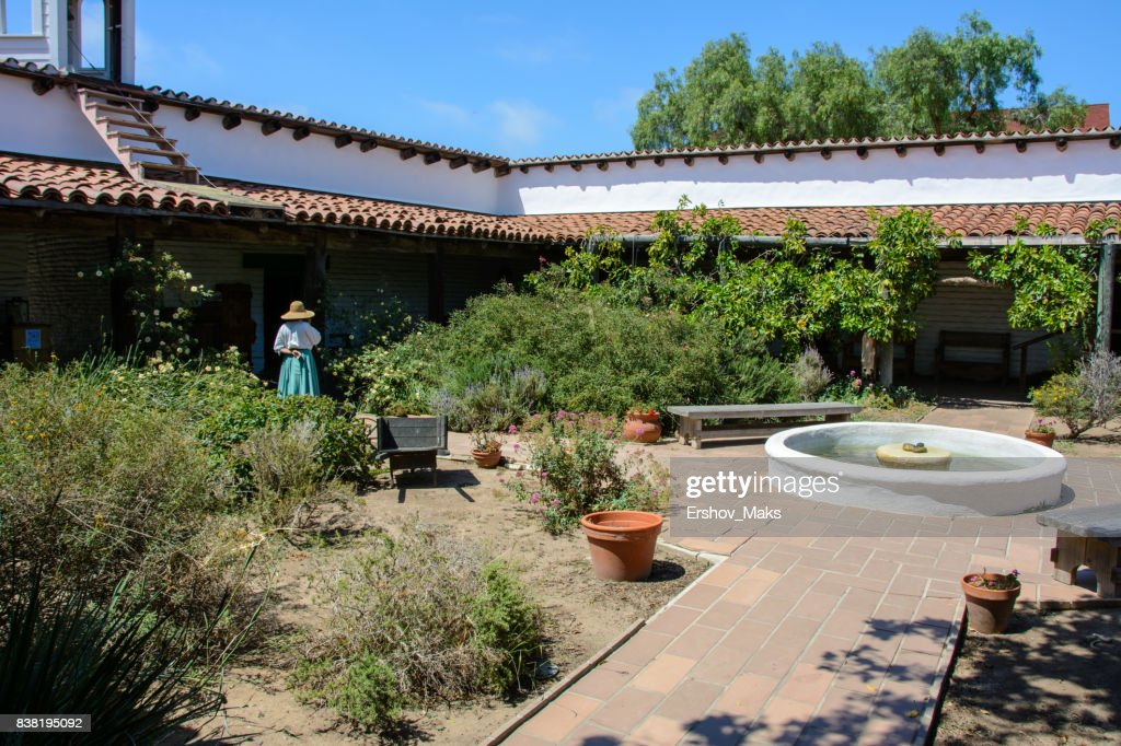 Typical Spanish Style Villa Patio Stock Photo Getty Images