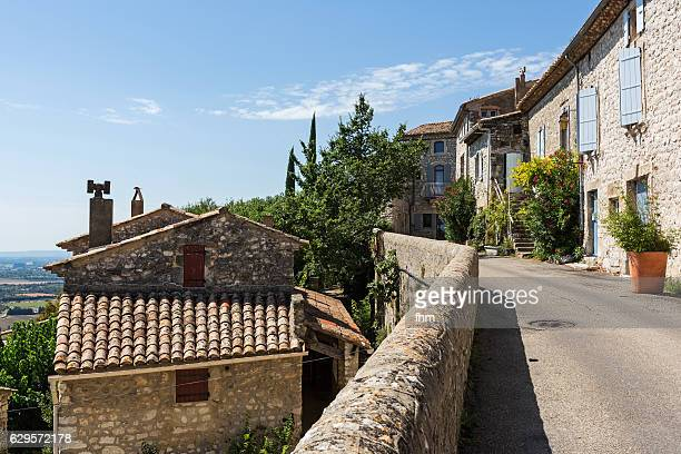 Typical street and buildings in a french village (La Garde-Adhémar/ Drôme/ Auvergne-Rhône-Alpes)